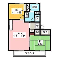 セナ・ブセナ A棟[1階]の間取り
