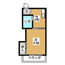 ホワイトビラ[3階]の間取り