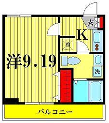 アーバンステージ錦糸町 3階1Kの間取り