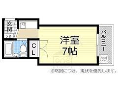 コーニッシュ桜川[506号室]の間取り