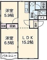 Residence華[401号室]の間取り