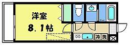 フラッティ大徳寺南 4階1Kの間取り