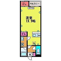 PLAZA新園町[1階]の間取り