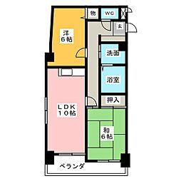 エクセル21[3階]の間取り