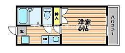水島臨海鉄道 栄駅 3.8kmの賃貸アパート 1階1Kの間取り