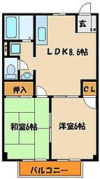 ロイヤルハイツIII[2階]の間取り