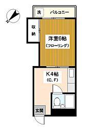 神奈川県横浜市神奈川区上反町2丁目の賃貸マンションの間取り