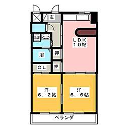 ジュノス[2階]の間取り
