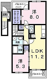 ハピネスハウスII[2階]の間取り