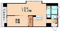 西鉄天神大牟田線 雑餉隈駅 徒歩15分の賃貸マンション 5階1LDKの間取り
