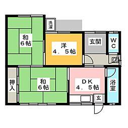[一戸建] 愛知県豊川市本野町北浦 の賃貸【/】の間取り