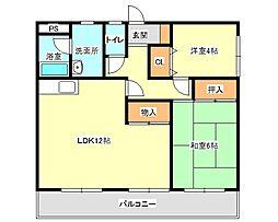 兵庫県神戸市垂水区名谷町字押戸の賃貸マンションの間取り