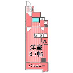 クロシェボーテ弘明寺[2階]の間取り