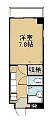 コンフォート松川(CK) 4階1Kの間取り