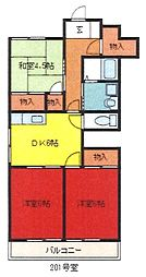 埼玉県さいたま市中央区下落合3丁目の賃貸マンションの間取り