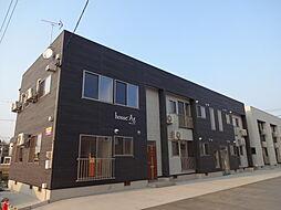 秋田県大仙市大曲須和町2丁目の賃貸アパートの外観