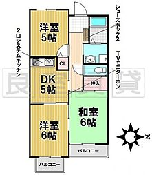 愛知県名古屋市千種区日和町2丁目の賃貸マンションの間取り