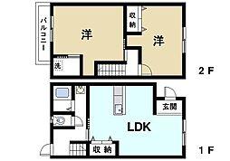 [一戸建] 奈良県奈良市藤ノ木台1丁目 の賃貸【/】の間取り