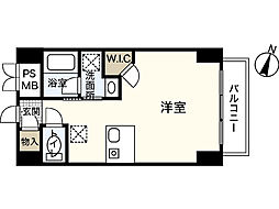 広島県広島市中区銀山町の賃貸マンションの間取り