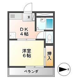 第3ハイツタマキ[2階]の間取り