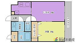 アーニスト新合川[405号室]の間取り