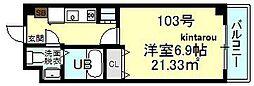 千葉県船橋市東中山1丁目の賃貸マンションの間取り