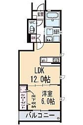 新築アリビオ 1階[101号室]の間取り