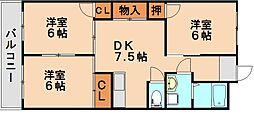 フルハウスコクラ[2階]の間取り