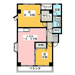 サンパーク南台C[2階]の間取り