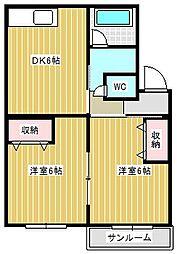 フォーラム丸塚[2階]の間取り