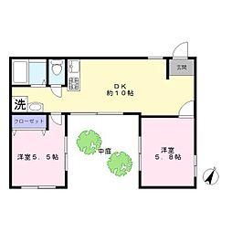 藤本ハウス[1f号室]の間取り