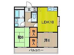 関野マンション[2階]の間取り