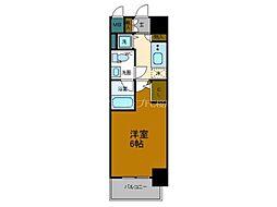 Osaka Metro長堀鶴見緑地線 大正駅 徒歩9分の賃貸マンション 6階1Kの間取り
