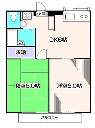 東京都西東京市北町2丁目の賃貸アパートの間取り