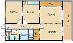 大県マンション II[2階]の間取り
