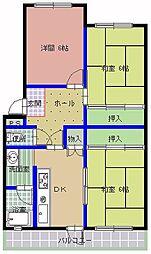東横マンション A棟[401号室]の間取り