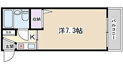 エム・ケイ3枚方公園[406号室]の間取り