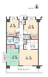 ヴェルジュ武蔵新城[505号室]の間取り