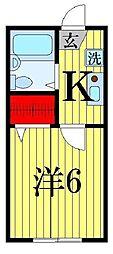 ベルフルール西亀有[2階]の間取り