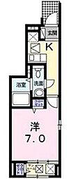 プリマベーラ栄生[1階]の間取り