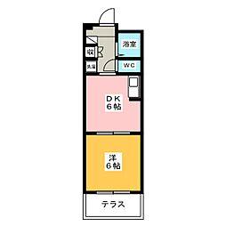 愛知県名古屋市千種区唐山町2丁目の賃貸マンションの間取り