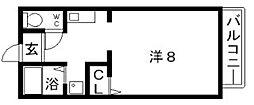 カネマスロイヤルコート[2階]の間取り
