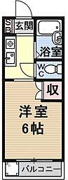 サンシーガル1[216号室号室]の間取り