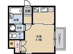 エスライズ都島[3階]の間取り