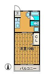 セゾン鶴川[2階]の間取り