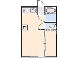 メゾンシブキ東台[2階]の間取り