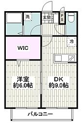 JR東海道本線 鴨宮駅 徒歩18分の賃貸マンション 1階1DKの間取り