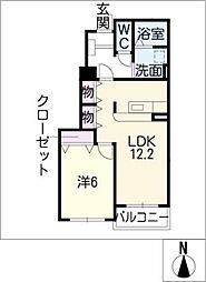 カーサ・イリーデ B棟[1階]の間取り
