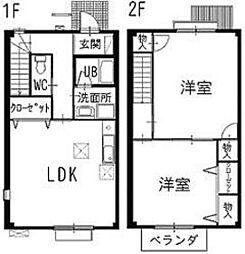 ReliefCourt稲田[D 102号室]の間取り
