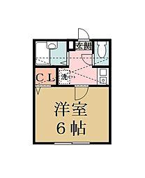 第5アベニュー[201号室]の間取り